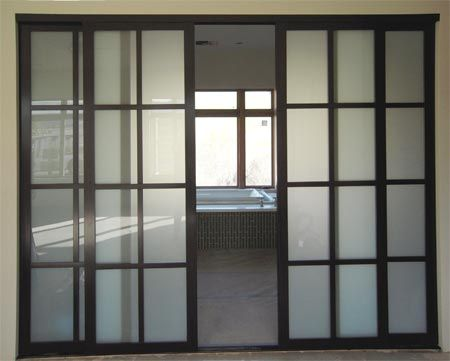 Sliding door to separate living area and play room for Basement sliding doors