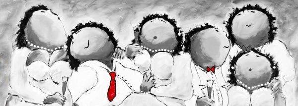 """Theo Broeren, """"Chique zwart-wit-rood"""", bij Goesten en Goesten"""