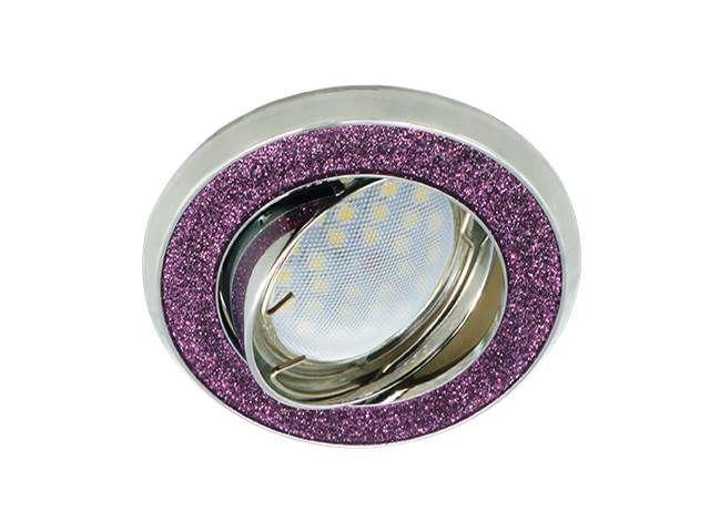 Светильник Ecola DL39 MR16 GU5.3 Фиолетовый блеск/Хром