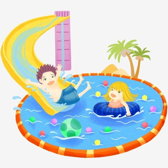 Vector Children Playing In The Playground And Swimming Pool Slide Clipart Children Vector Swimming Vector Png Transparent Clipart Image And Psd File For Free Ilustrasi Air Kartun Ilustrasi Kartun