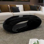 vidaXL Soffbord design 100x50x28cm svart glasfiber