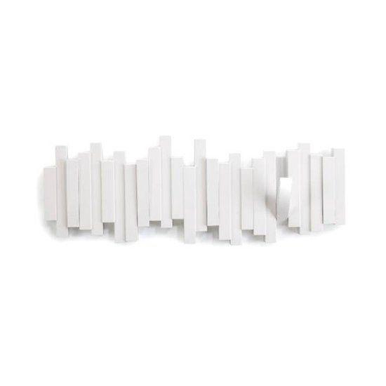 Umbra kapstok Sticks - Wandkapstok - 18x46cm - Kunststof - Wit