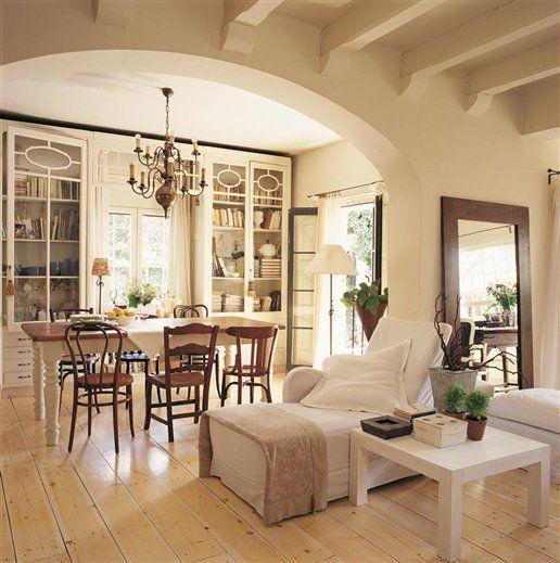 Sillas oscuras en ambiente blanco decoraci n pinterest - Sillas estilo provenzal ...