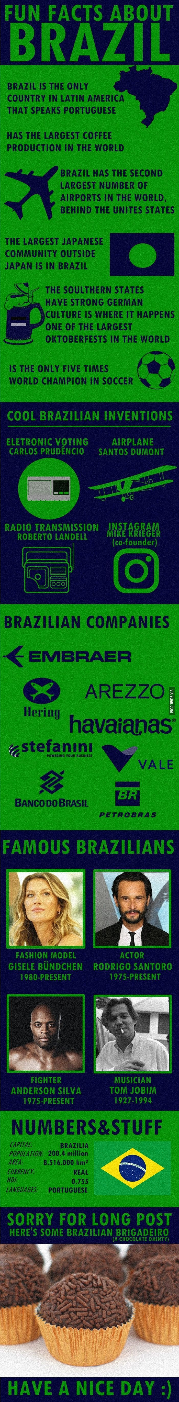 Fun facts about Brazil? http://ibeebz.com