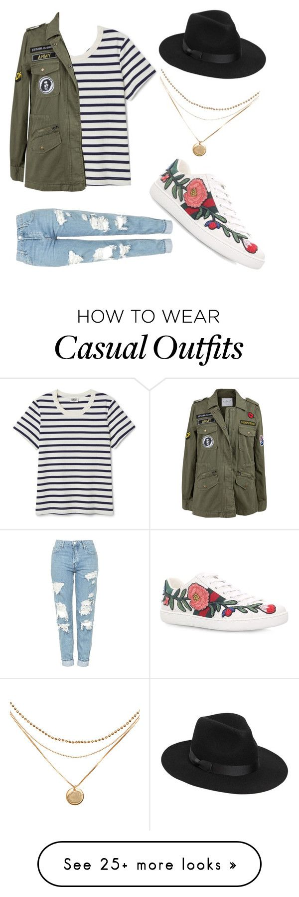 """Casual"" by killcamprincesss on Polyvore featuring Topshop, Velvet by Graham & Spencer, Gucci and Lack of Color"