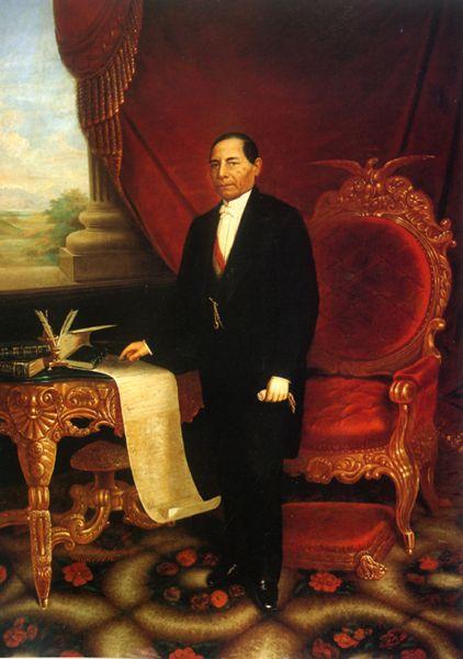 Benito Juárez, siglo XIX, óleo sobre tela - Silla presidencial de México - Wikipedia, la enciclopedia libre
