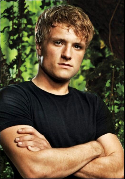What are some of Peeta Mellark's character traits in The Hunger Games?