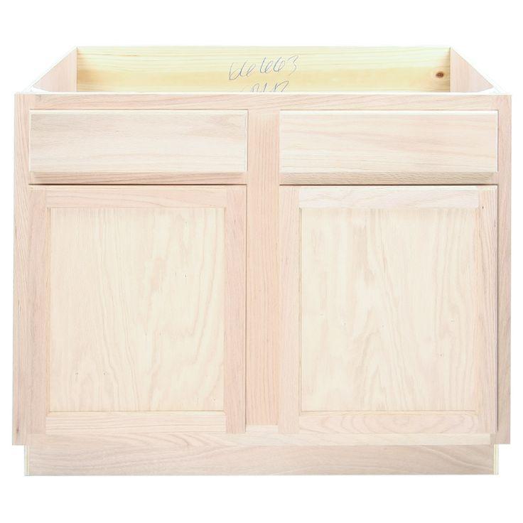 Kitchen Sink Base Cabinet | Unfinished Poplar | Shaker ...