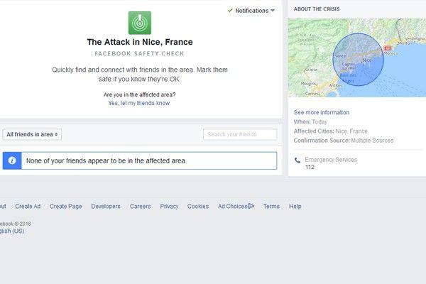 Teror Nice, Facebook aktifkan 'Safety Check'