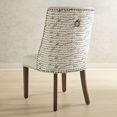 Corinne Gratitude Dining Chair with Espresso Wood
