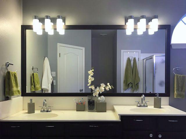 Diy Master Bathroom Makeover On A Budget From Builder Grade To Contemporary Click