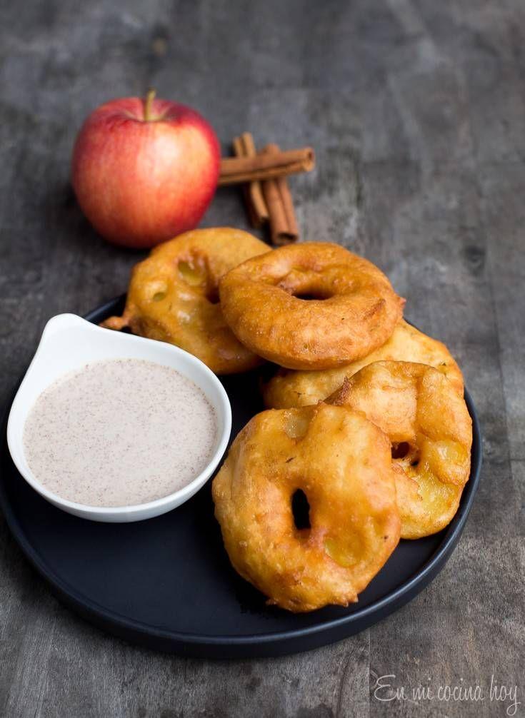 Buñuelos de manzana o Fritos de manzana. Una receta deliciosa para el otoño. Con @caciqueinc #GoAutentico #SoCu #ad