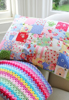 Helen Philipps - this is the cutest patchwork pillow I have ever seen, love the applique bee keep