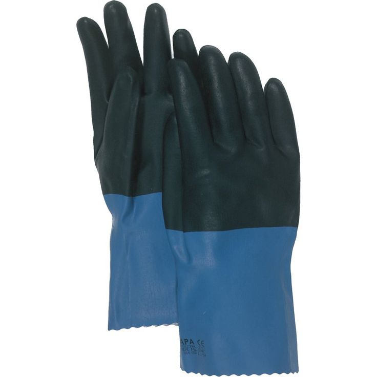 Boss Gloves 34L Large Supported Neoprene Coated Chemical Gloves - 2370-8670