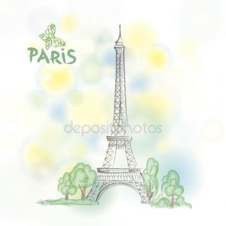 Fondo de la Torre Eiffel Vector De Stock