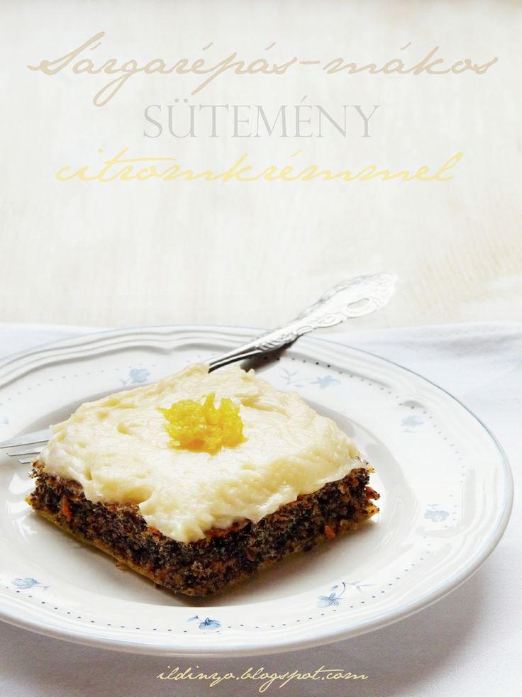 Hozzávalók: egy csipetnyi szeretet: Sárgarépás-mákos sütemény gyömbéres citromkrémmel