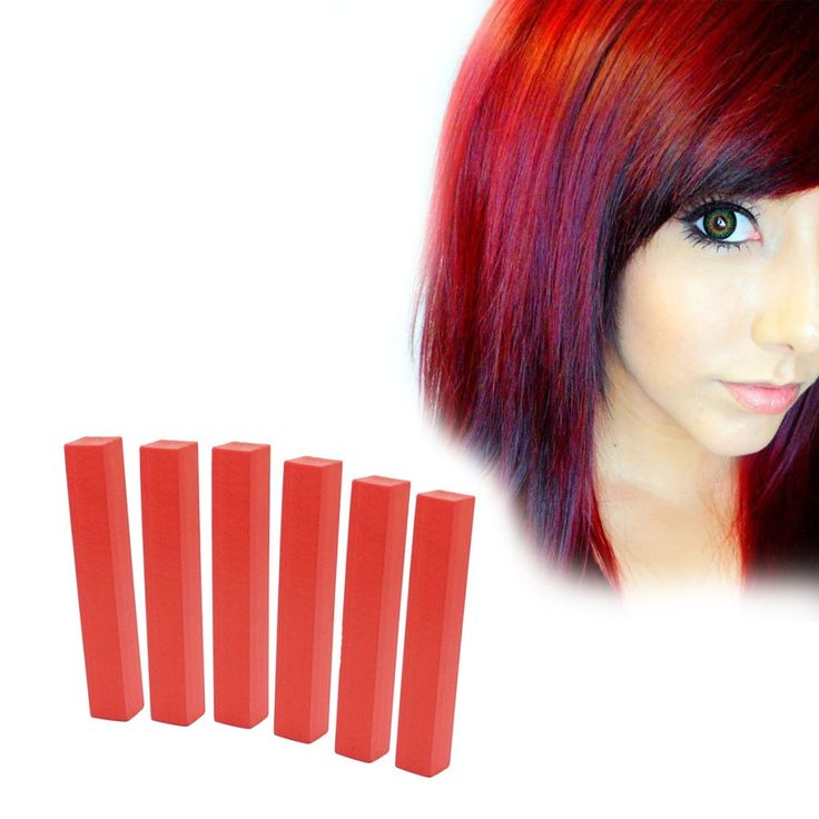 Crimson Red Hair Dye | FIRE RED 6 Dark Red Hair Color | HairChalk  Imperial Red Hair Color for your temporary hair dying fun! A complete 6 Hair Chalk Bright Red hair kit