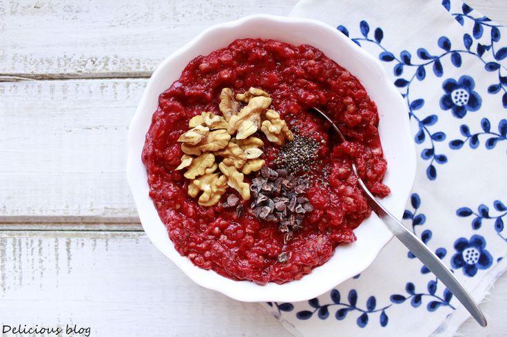 řepa na sladko k snídani. z: Delicious blog: Červená pohanková kaše