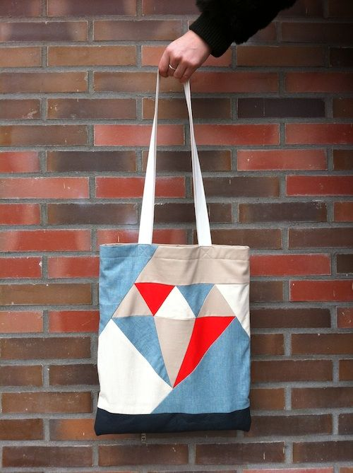 Sewing Pattern Diamond Tote Bag
