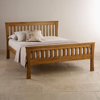 Orrick Rustic Solid Oak 5ft King-Size Bed