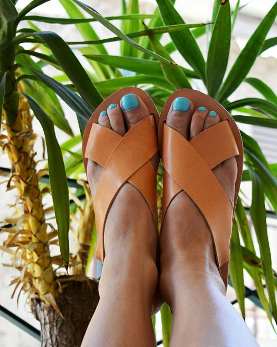 Greek Slingback Sandals, Leather Sandals, Ancient Greek Sandals ''Naxos''