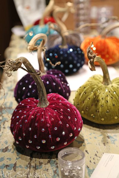 In the studio - Velvet Pumpkins by Hot Skwash