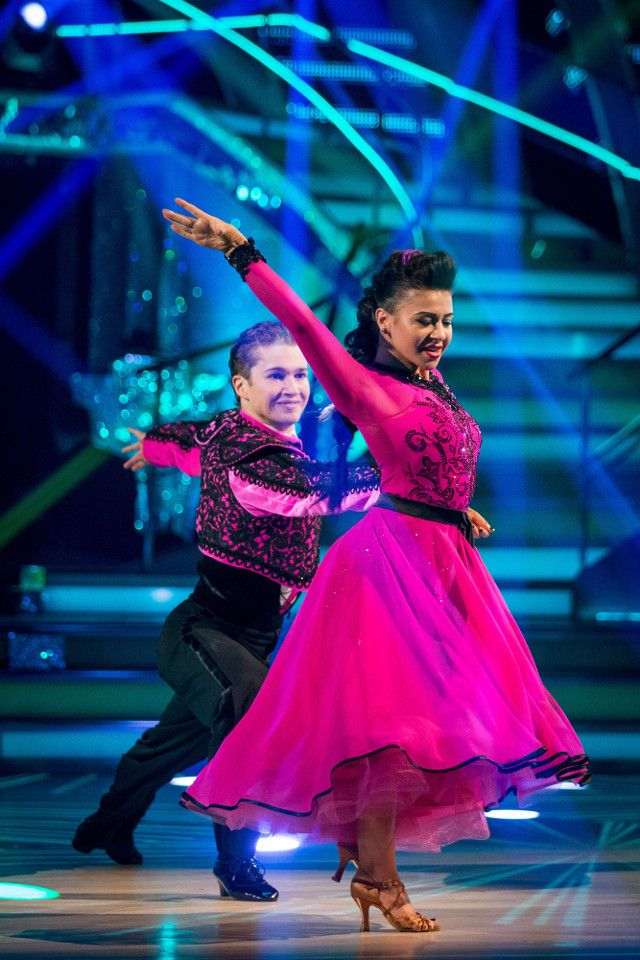 SCD week 7, 2016. Claudia Fragapane & A J Pritchard. Pasodoble. Credit: BBC / Guy Levy