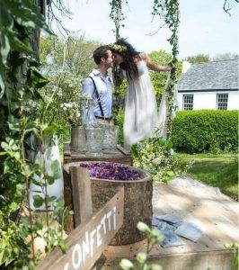 Romance and rustic touches always work really well for a less formal wedding. www.thecowshedweddings.co.uk