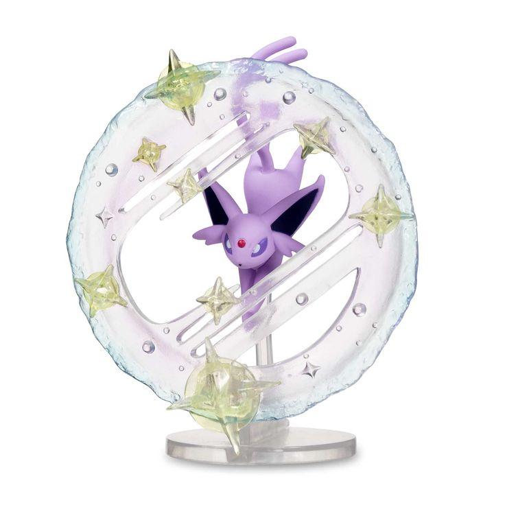 Official Espeon Pokémon Gallery Figure. Sculpted Espeon caught in action, with sparkling Light Screen. Pokémon Center Original design.