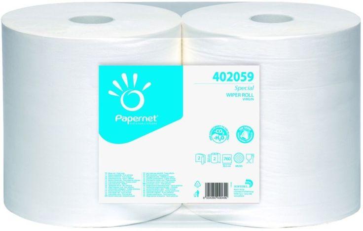 Papernet rola industriala alba, ecologica, celuloza, 2 straturi.
