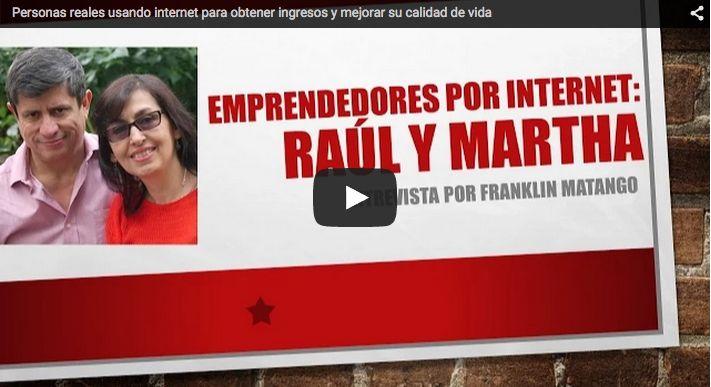 Fuimos Invitados de honor en esta entrevista exclusiva con Franklin Matango. Conoce quienes somos y lo que hacemos. #raulymartha #internetmarketing