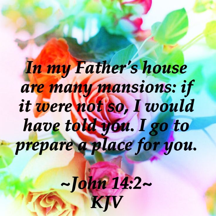 In my Father's house are many mansions: if it were not so, I would have told you. I go to prepare a place for you. ~John 14:2~ KJV (D Harman)