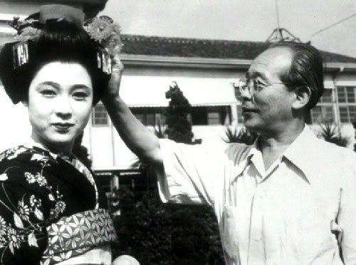 Ayako Wakao and Kenji Mizoguchi ~