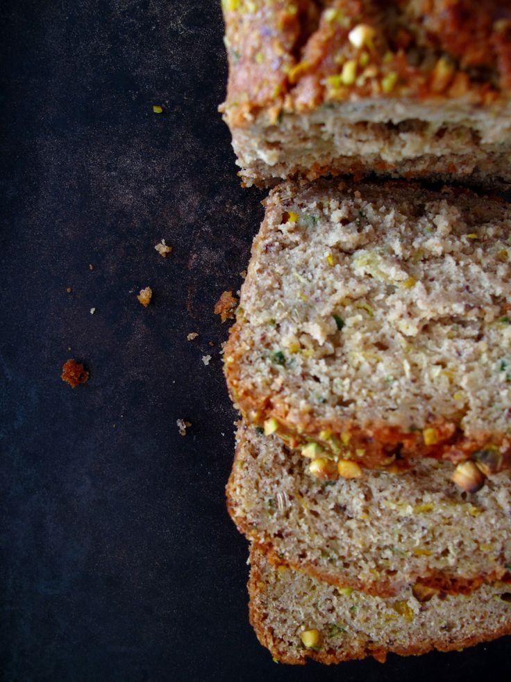 Two-Tone Fennel + Pistachio Zucchini Bread: