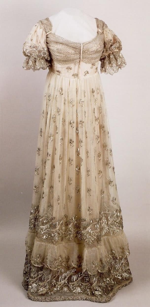 regency period era evening gown