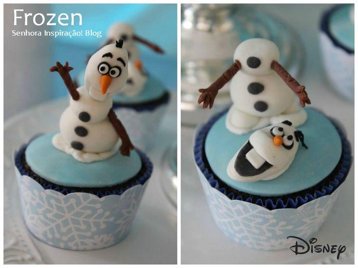 Cupcake Disney Frozen - Senhora Inspiração!