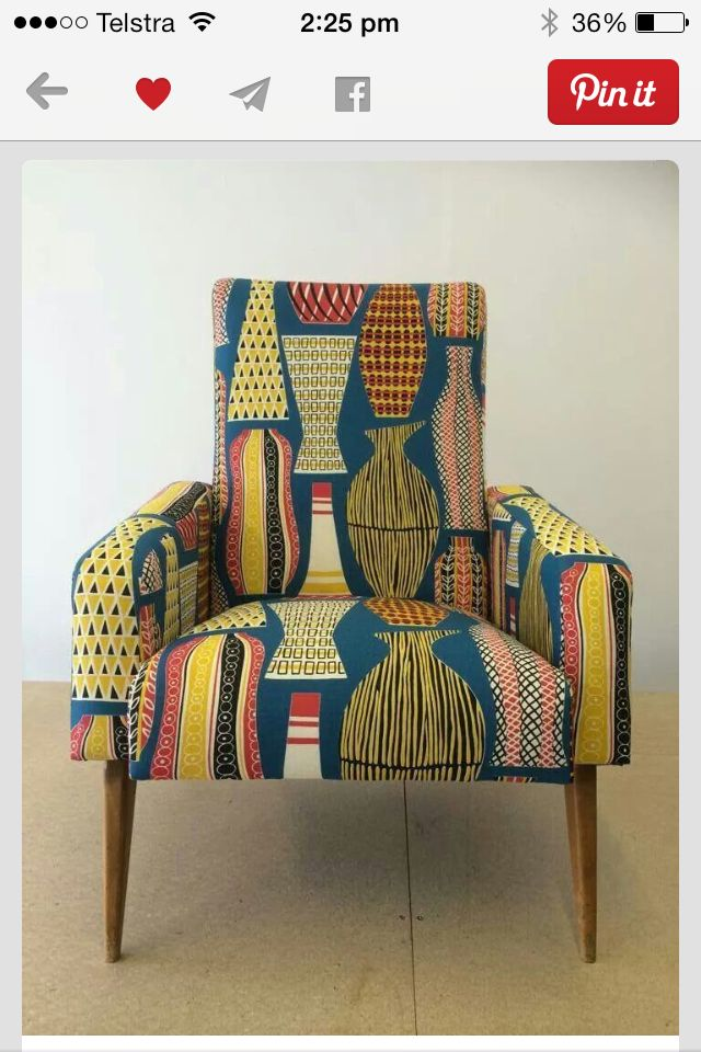 Beautiful Stig Lindberg fabric makes this chair