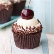 Receta de Cupcakes de Chocolate con Betun de Merengue
