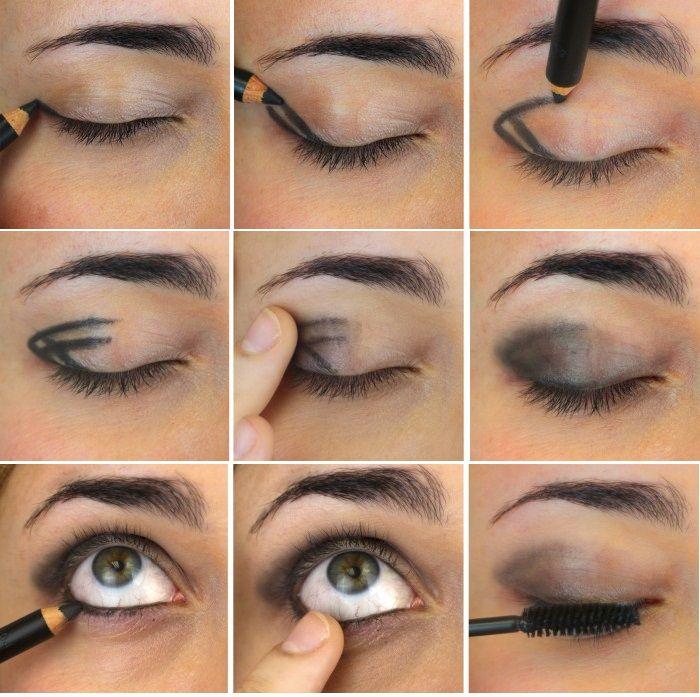 "Trucco occhi con matita nera ""smoky eyes"""