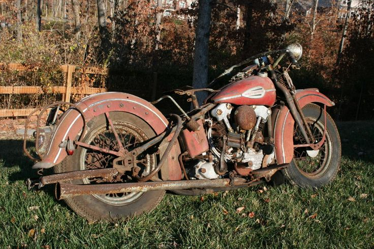 """What dreams are made of -1940 H-D Knucklehead """"barn find"""""""