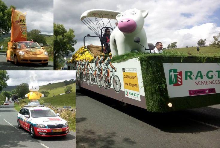 Vehicles from the 2014 Tour de France Publicity Caravan