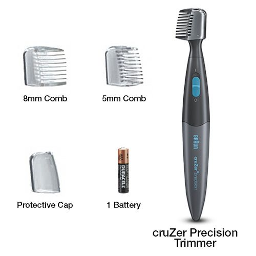 The Braun Cruzer6 Precision beard and mustache trimmer  for styling hard-to-reach areas and shapes.