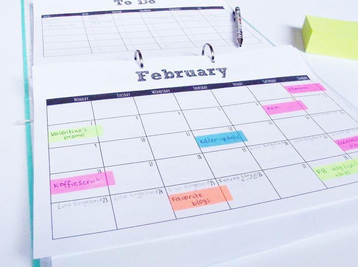 Blog Planner (Editorial Calendar) Free Printables Monthly Calendar How-to