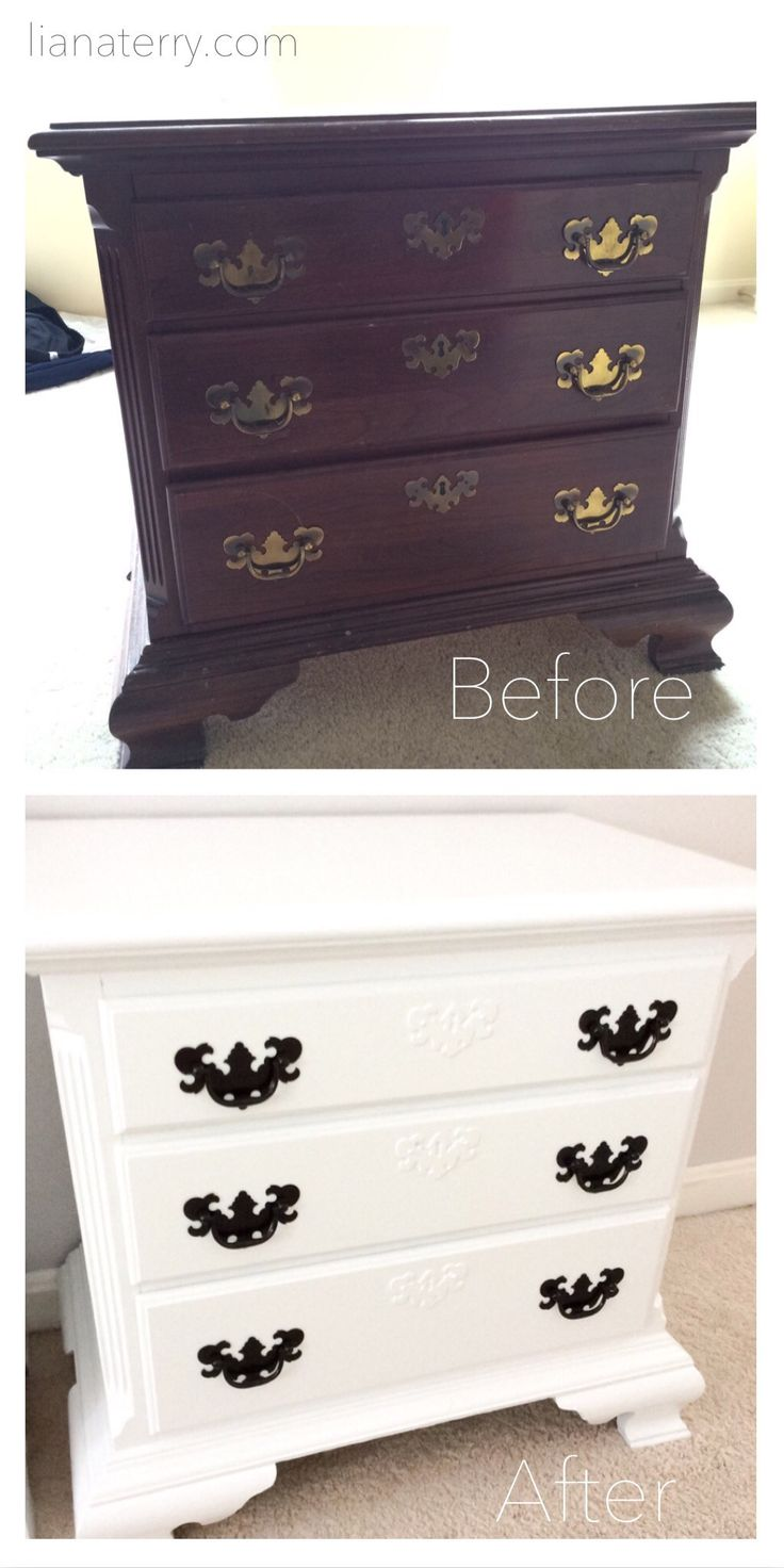 17 Best Ideas About Bedside Table Makeover On Pinterest