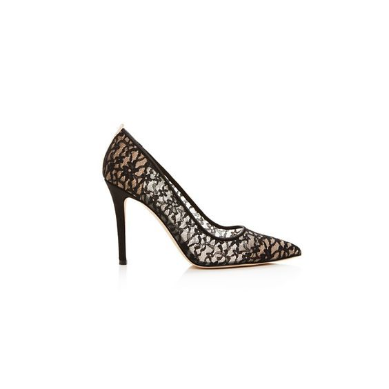 Black lace heels: http://www.stylemepretty.com/living/2016/03/11/10-irresistible-black-heels-for-date-night/: