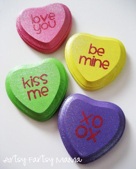 mama: Valentine Conversation Hearts: Heart Crafts, Diy Conver, Diy ...