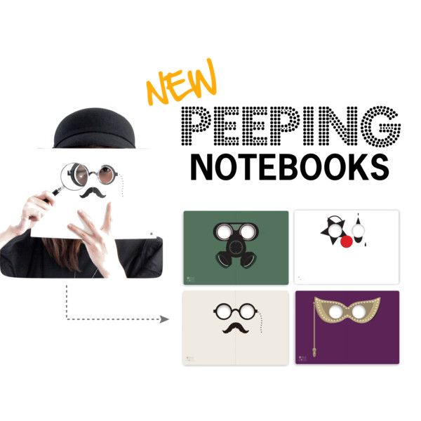 """Peeping Notebooks @ HOTTT.COM"" by HOTTT.COM on Polyvore"