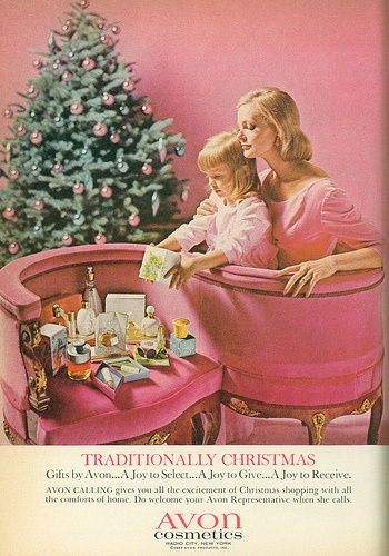 """Why did Santa bring all this Avon stuff, Mommy? I asked him for a bicycle."""