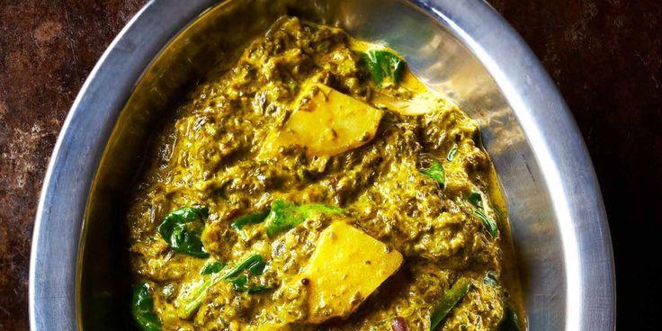 Aloo palak (recette indienne, pommes de terre et épinards)