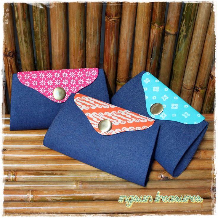 Uluwatu Clutchbag  it is when batik meets denim, cool and fun! -made for mrs. Retno-